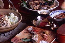 地元食材のお料理
