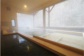 塩の湧き出る温泉
